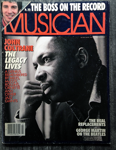 "A 1987 issue of Musician featuring an article on ""The Real Replacements."""