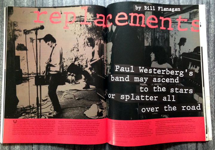 Opening spread of 1987 article on The Replacements.