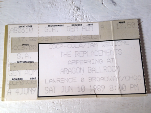 My first ever concert. My first real ticket stub. Note one of the sponsors: Coca-Cola!