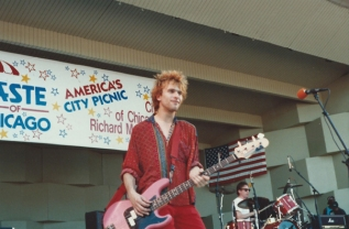 Tommy Stinson and Steve Foley during the Replacements' last show in 1991. Photo courtesy of Bob Ingrassia.